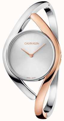 Calvin Klein Pulseira de aço inoxidável partido dois tons K8U2MB16