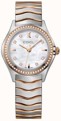 EBEL Mãe de onda de diamante feminina de pérola discagem pulseira de dois tons 1216325