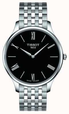 Tissot Mens pulseira de aço inoxidável tradição preto discar T0634091105800