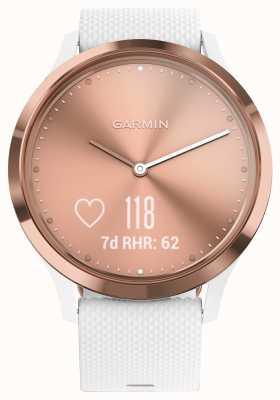 Garmin Vivomove hr (pequeno / médio) atividade rastreador branco rosa ouro 010-01850-02