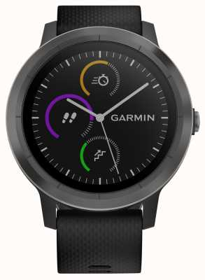 Garmin Vivoactive 3 horas multisport tracker moldura de borracha preta preta 010-01769-10