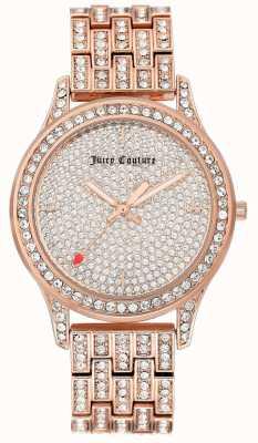 Juicy Couture Relógio de pulseira de ouro rosa de mulher JC-1044PVRG