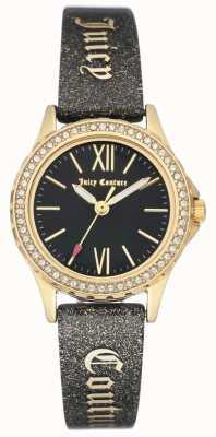Juicy Couture Womens gold tone case alça suculenta preta JC-1068BKBK