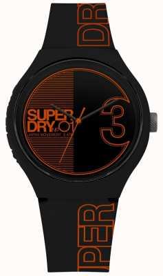 Superdry Fusão xl urbana mate preto laranja impressão SYG239BO