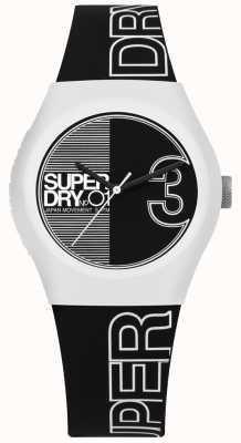 Superdry Fusão urbana em preto e branco com mostrador e pulseira impressos SYL239BW