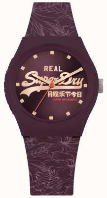 Superdry Faixa roxa urbana sunray dial pulseira roxa SYL248V