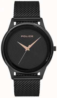 Police Mens pulseira de malha preta estilo inteligente pulseira preta PL.15524JSB/02MM