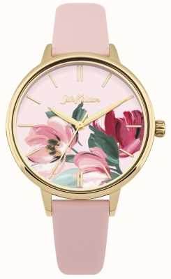 Cath Kidston Relógio floral rosa com alça para mulher CKL050PG