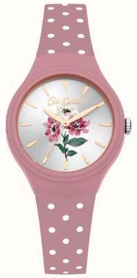Cath Kidston Womens anêmona buquê rosa pulseira de silicone relógio CKL066P
