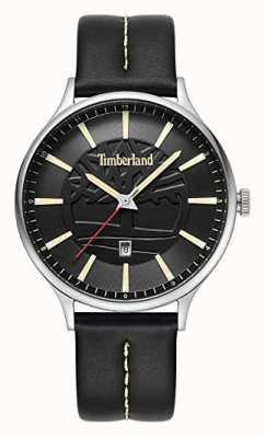 Timberland Mens marblehead pulseira de couro preto mostrador preto 15488JS/02