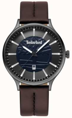 Timberland Mens marblehead pulseira de couro marrom azul TBL.15488JSU/03