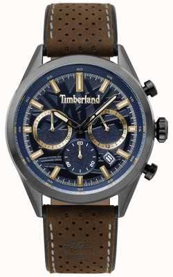 Timberland Mens randolph pulseira de couro marrom escuro azul TBL.15476JSU/03