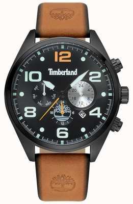 Timberland Mens blackman couro marrom cinta preta e mostrador TBL.15477JSB/02