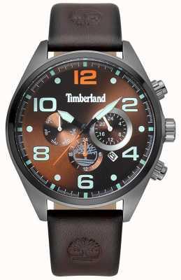 Timberland Mens whitman brown pulseira de couro marrom discar TBL.15477JSU/12