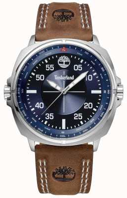Timberland Williston pulseira de couro marrom azul TBL.15516JS/03