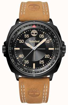 Timberland Mens williston couro marrom pulseira preta e mostrador TBL.15516JSB/02