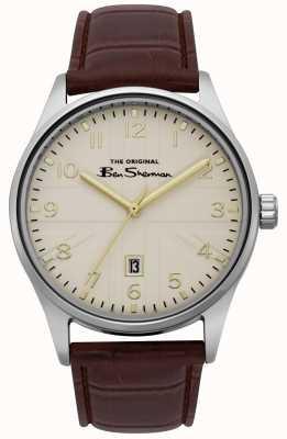 Ben Sherman Mens matt off white dial prata ouro pulseira de dois tons BS017BR