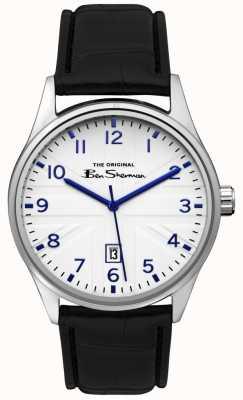 Ben Sherman Mens matt azul discagem arma de prata dois tom pulseira BS017B