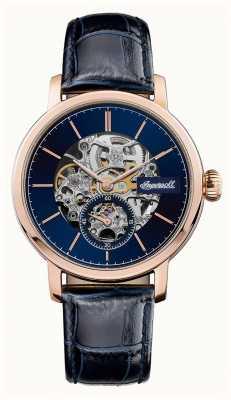 Ingersoll Mens a pulseira de couro azul automático mostrador azul smith I05706