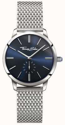 Thomas Sabo Mulheres glam espírito malha de aço inoxidável pulseira mostrador azul WA0301-201-209-33
