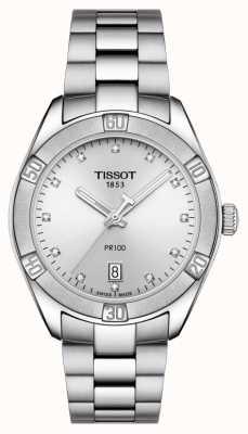 Tissot Senhoras pr 100 esporte chique diamante definir data de exibição T1019101103600