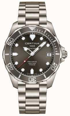 Certina Mens ds ação precidrive cinza mostrador de titânio relógio C0324104408100