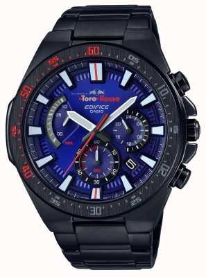 Casio Edifício toro rosso preto ip plated blue dial chrono EFR-563TR-2AER