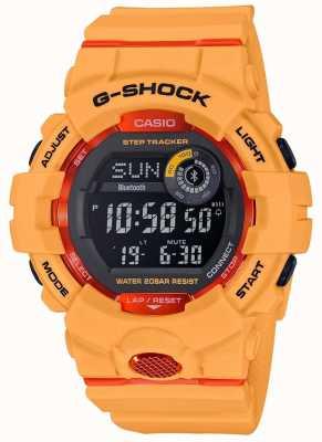 Casio Rastreador de passo bluetooth digital laranja G-squad GBD-800-4ER