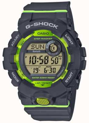 Casio Perseguidor digital verde cinzento da etapa do bluetooth do G-squad GBD-800-8ER