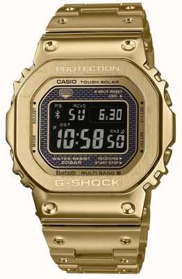 Casio G-shock rádio controlado bluetooth solar banhado a ouro aço GMW-B5000GD-9ER