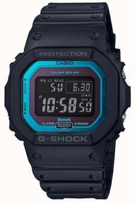 Casio G-shock bluetooth rádio controlado resina banda preto / azul GW-B5600-2ER