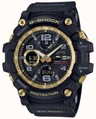 Casio Alça de borracha preta de ouro controlado por rádio G-shock GWG-100GB-1AER