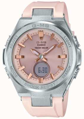 Casio G-ms baby-g resistente pulseira de borracha rosa solar MSG-S200-4AER