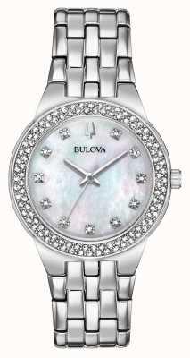 Bulova Relógio de cristal e pingente de presente feminino 96X144