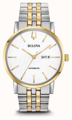 Bulova Relógio clássico automático de dois tons para homem 98C130