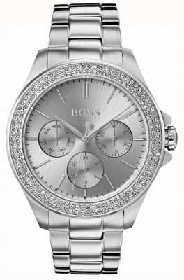 Hugo Boss Womens premiere cristal conjunto de aço inoxidável 1502442