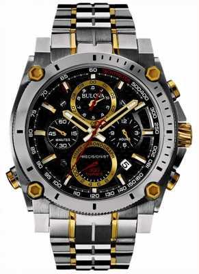 Bulova Relógio de aço inoxidável e ouro de precisão dos homens 98B228