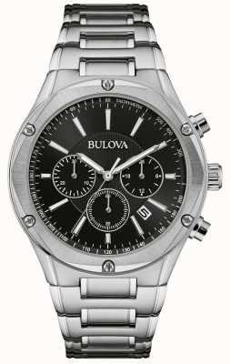 Bulova Relógio de aço inoxidável cronógrafo para homem 96B247