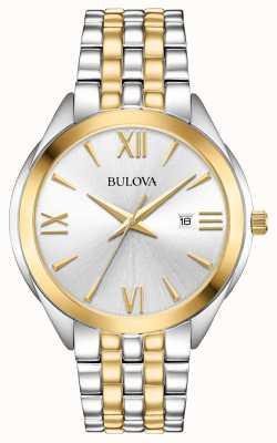 Bulova Relógio de aço inoxidável de duas cores para mulher 98B331