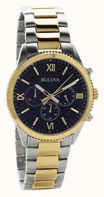 Bulova Relógio de cronógrafo de dois tons para mulher 98A220
