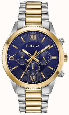 Bulova Relógio cronógrafo feminino | cinta de aço inoxidável | 98A220