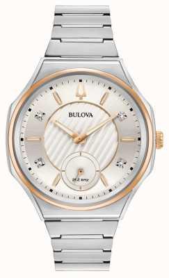 Bulova | curv | mulheres | pulseira de aço inoxidável | 98P182
