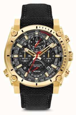 Bulova Relógio preto e dourado de precisão dos homens champlain 97B178