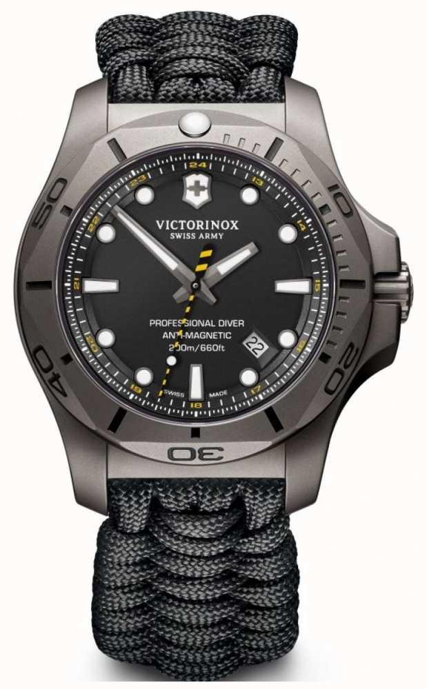 7f75dab60cc Victorinox Swiss Army Mens Inox Pro Mergulhador Titânio Cinta Preta ...