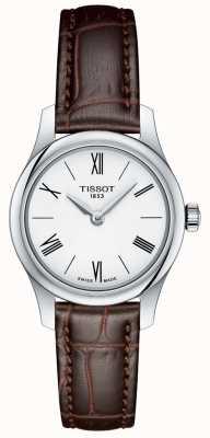 Tissot Tradição das mulheres 5,5 lady watch pulseira de couro marrom T0630091601800