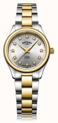 Rotary Relógio de pulseira de diamante de duas senhoras oxford senhoras tom LB05093/44/D