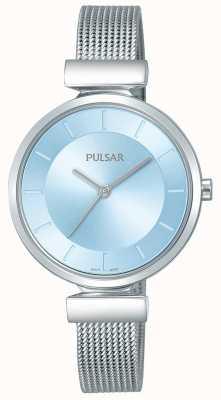 Pulsar Senhoras cinta de aço inoxidável luz mostrador azul PH8411X1