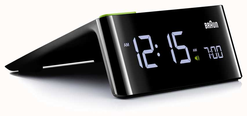 Braun Despertador digital de cabeceira | tela de LCD BNC016BKUK
