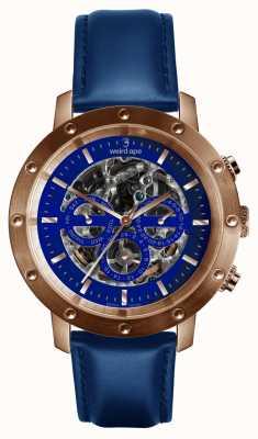 Weird Ape Icarus 3 mostrador blue rose gold / pulseira de couro azul índigo WA02-005730