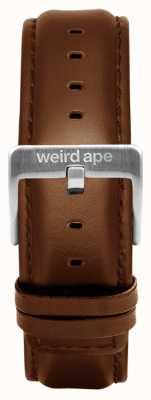 Weird Ape Couro de carvalho 20mm cinta prata fivela ST01-000099